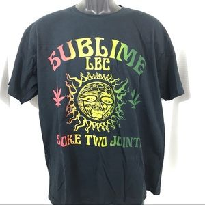 Sublime LBC Smoke Two Joints graphic band t-shirt